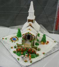 Gingerbread Church Template