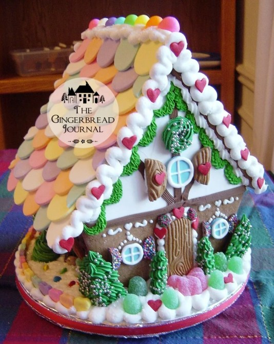 Gingerbread House Tudor Necco Wafer Roofwm