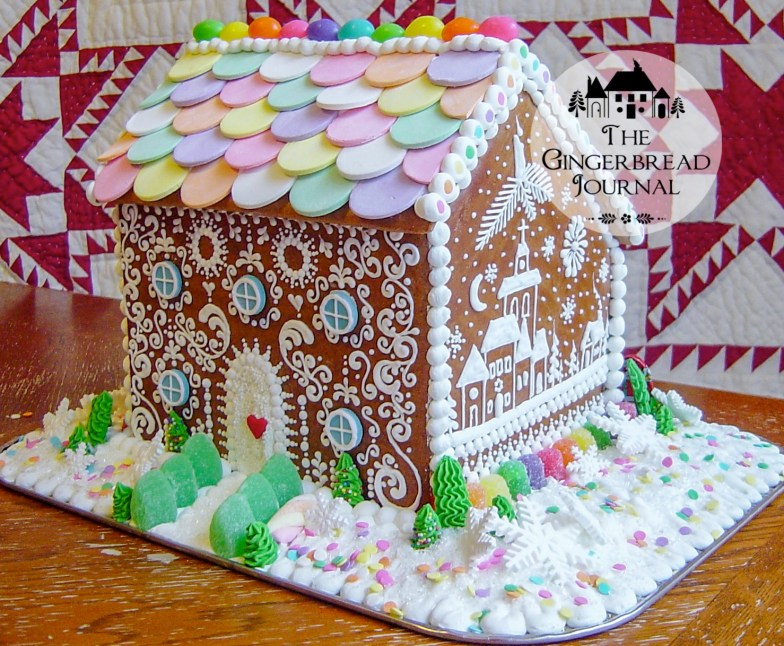 gingerbread house Christmas necco wafer roof