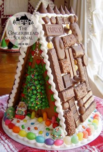 gingerbread house Christmas chocolate roof