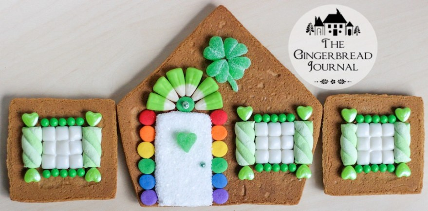 gingerbread house St. Patrick's Day 2015-4wm