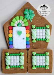 gingerbread house St. Patrick's Day tutorial