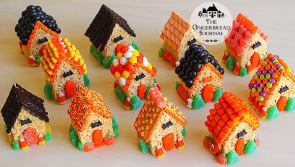 mini rice crispie treat Halloween Houses-13wm