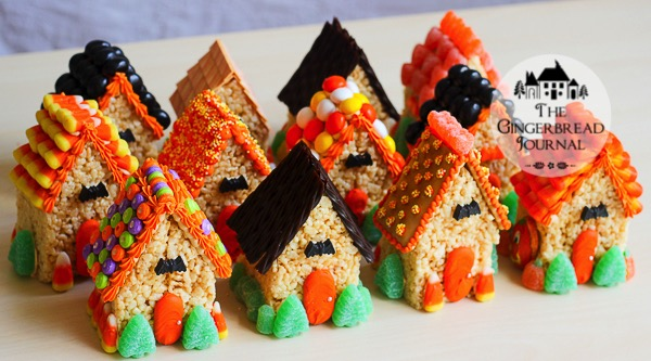 mini rice crispie treat Halloween Houses-7wm
