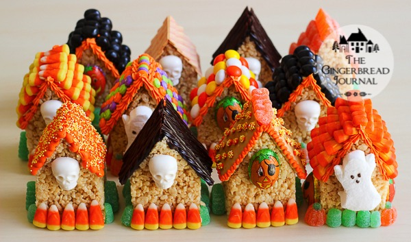 mini rice crispie treat Halloween Houses-9wm