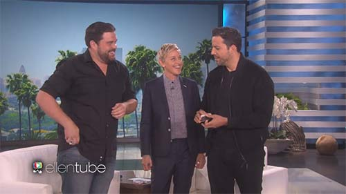 David Blaine with Ellen DeGeneres