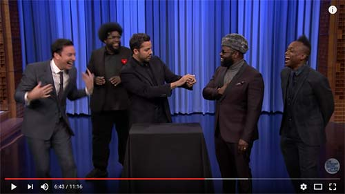 David Blaine with Jimmy Fallon