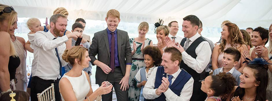 Wedding Magician - Damian Surr - Gingermagic - Regional Wedding Entertainer of the Year