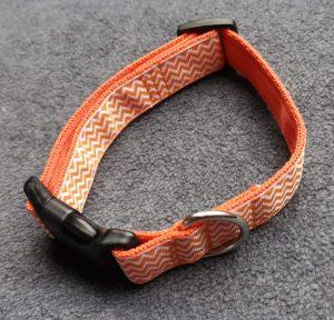 Orange Zig Zag Collar