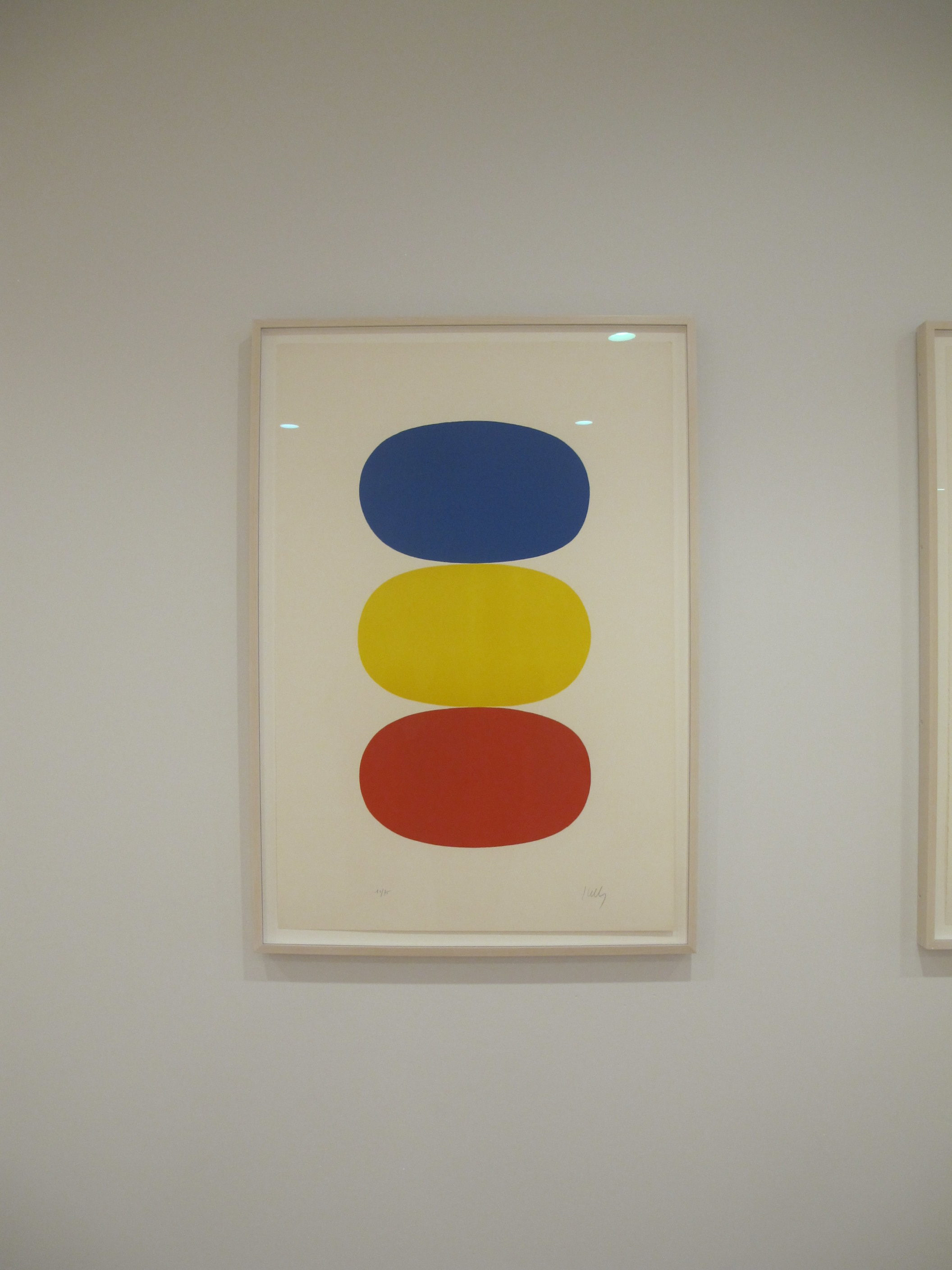 Blue and Yellow and Red-Orange, Ellsworth Kelly, 1964-65. One of 27 color lithographs.