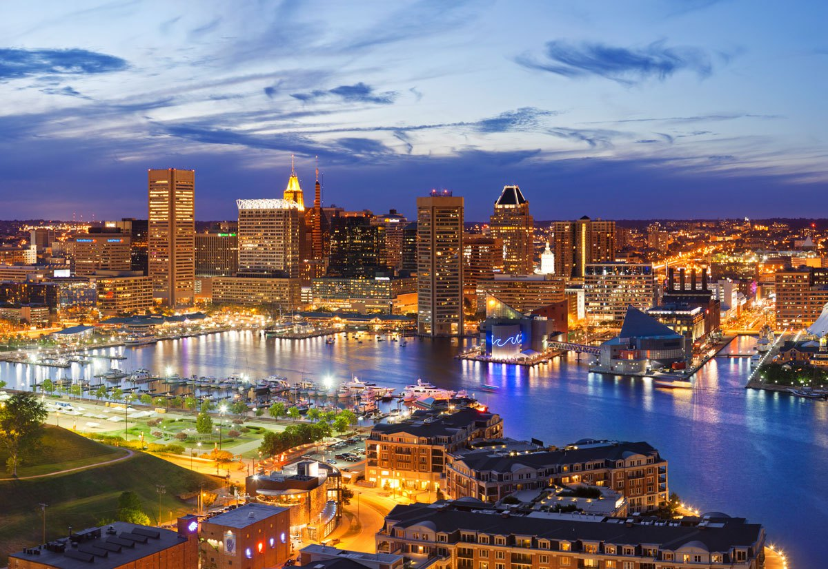 A view of the beautiful city of Baltimore.