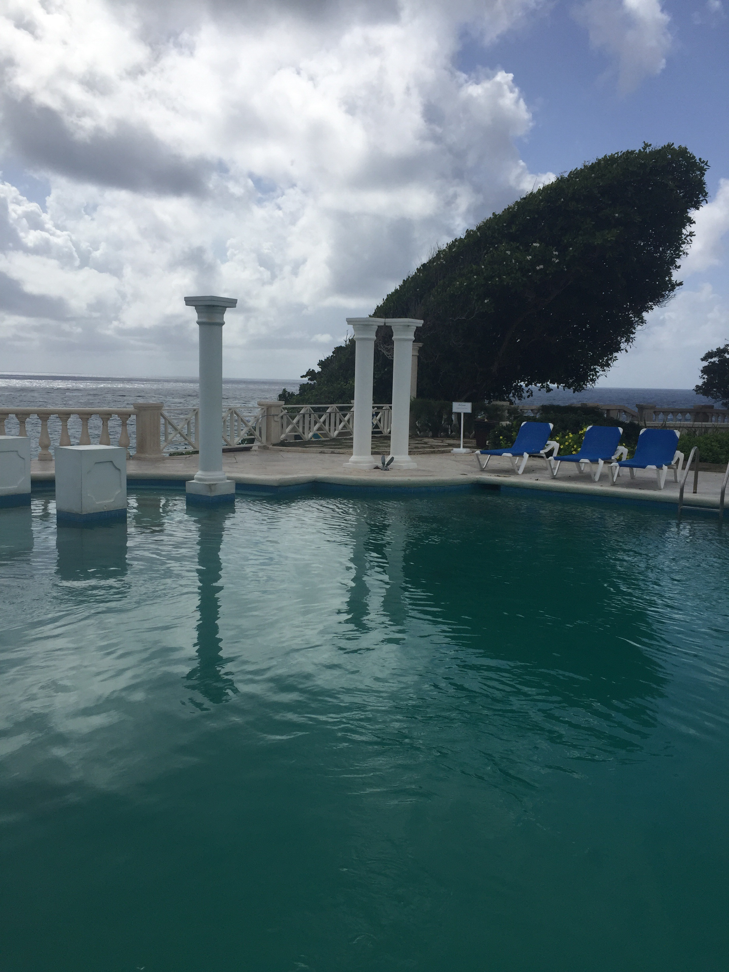 pool columns tree