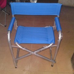 Aluminum Directors Chair Used Dining Chairs Custom Director S Personalized Folding Blue Plain