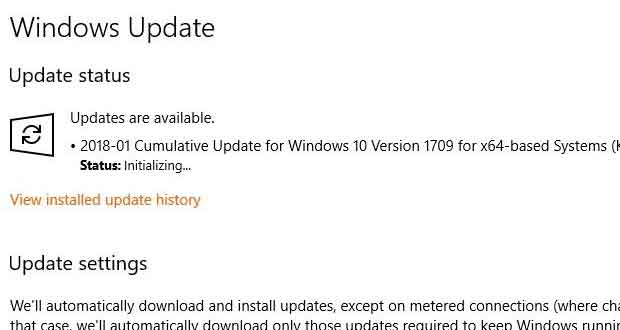 Windows 10- Service Windows Update