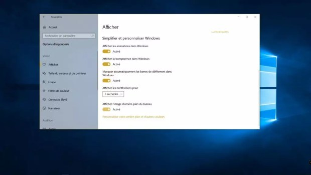 Windows 10 April 2018 Update - l'arrière-plan