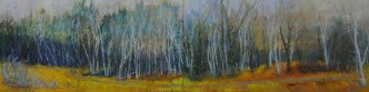 Birch Tree Line oil     24x96