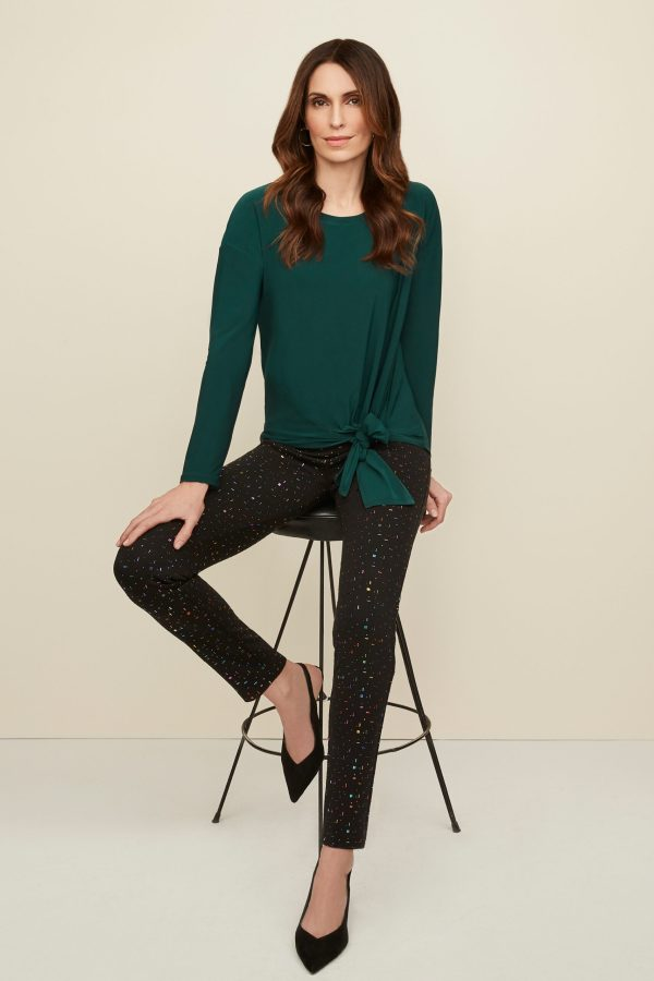 Joseph Ribkoff 2020 Fall Fashion Collection Model is Wearing #203450 Top paired with #203392 Pants