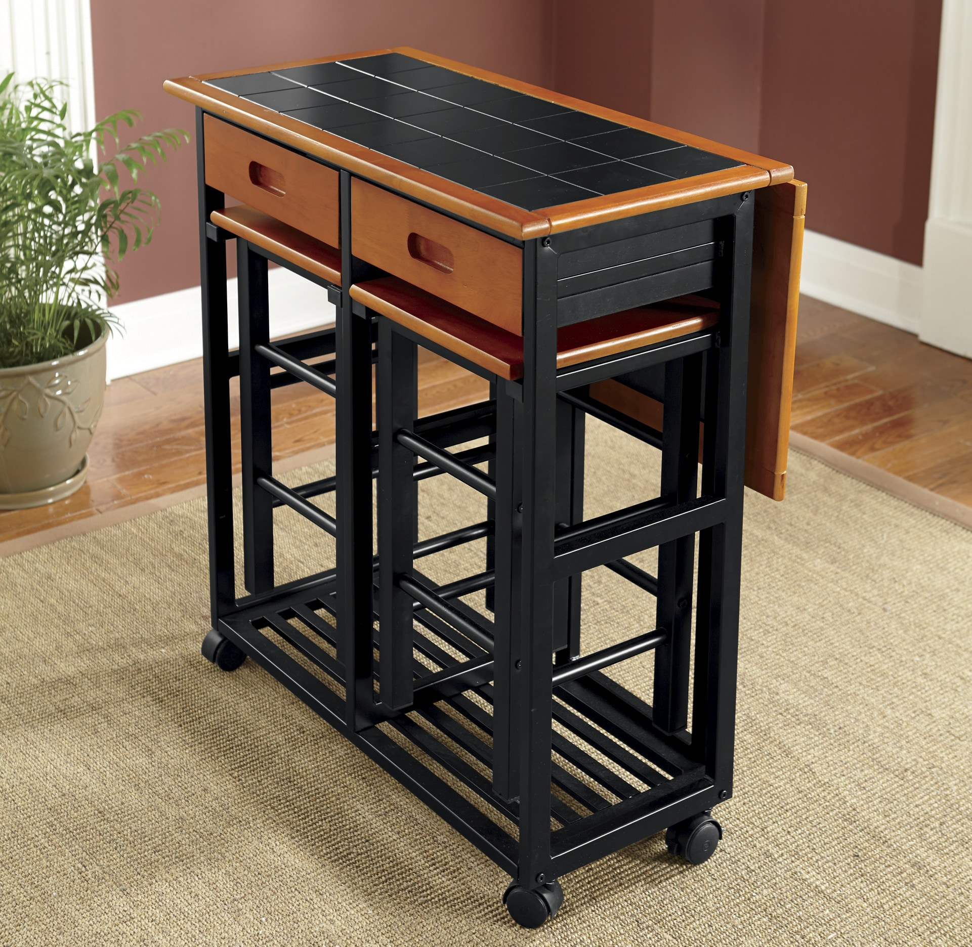 kitchen island set red countertops 2 in 1 ginny s