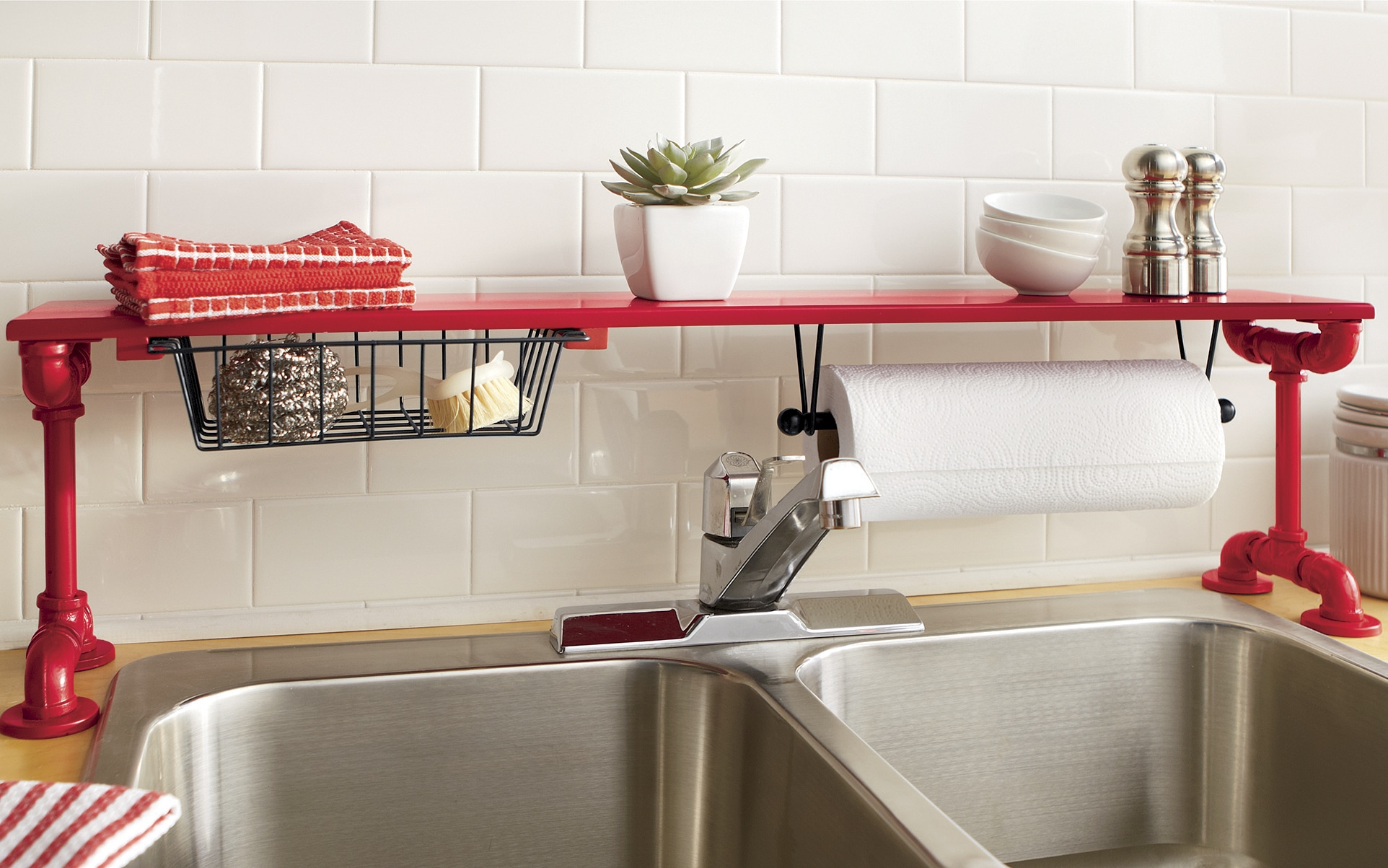 shelf above kitchen sink gray rugs over the pipe ginny 39s