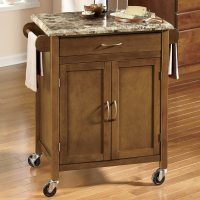 Faux Marble-Top Kitchen Cart | Ginny's