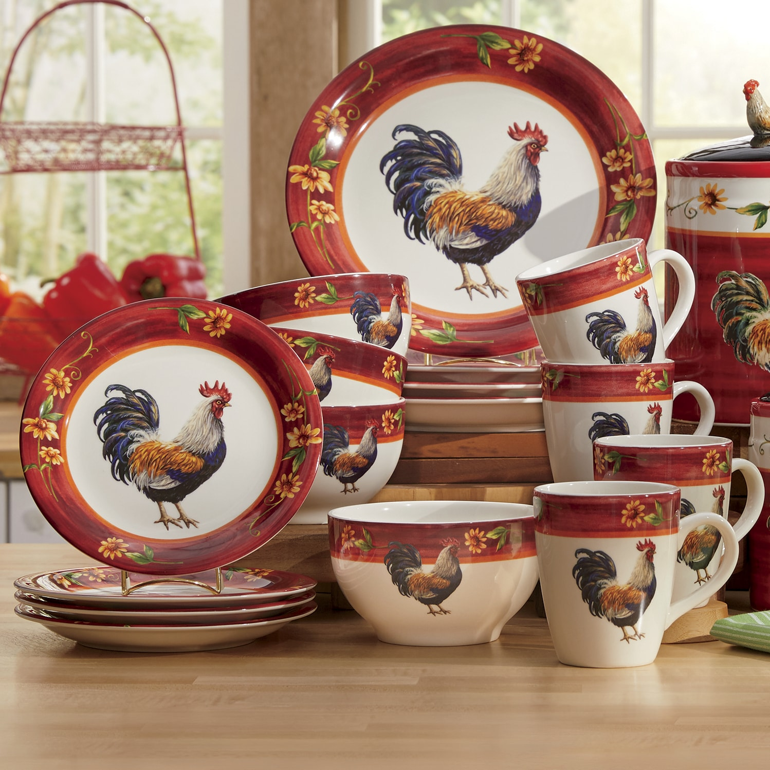 Sunflower Rooster Collection  Ginnys