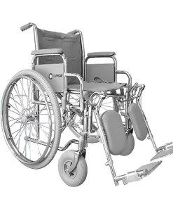 Cadeira de rodas Comfort Obeso com elevação para pernas–Cinza