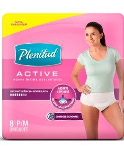 Roupa Intima Plenitud Active Feminina 8 unidades P e M