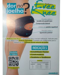 Joelheira Free Knee Salvapé