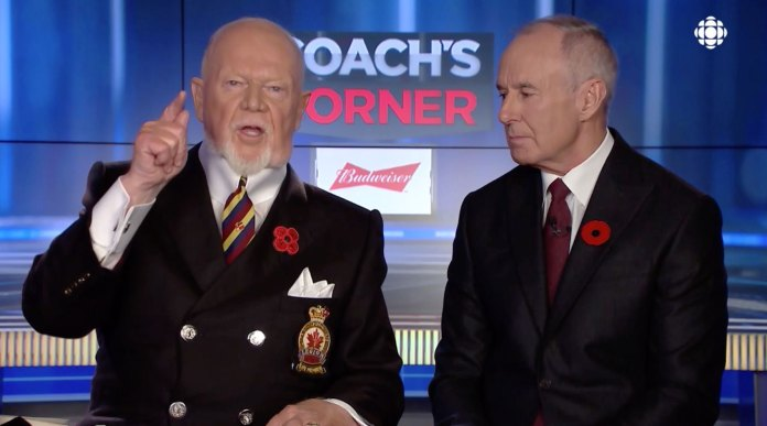 Don Cherry has been fired from Sportsnet