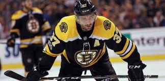 Patrice Bergeron of the Boston Bruins