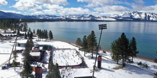 The NHL outdoor game at Lake Tahoe