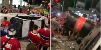 Montreal fans riot after beating Vegas