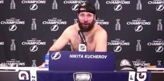 Nikita Kucherov honest post game press conference
