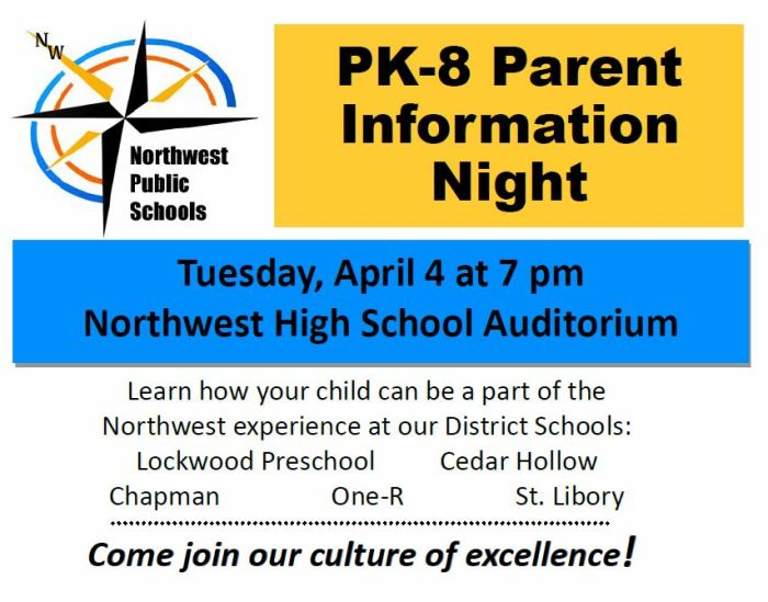 PK-8 Parent Information Night