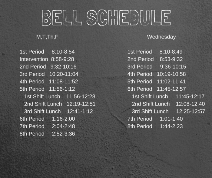 High School Bell Schedule