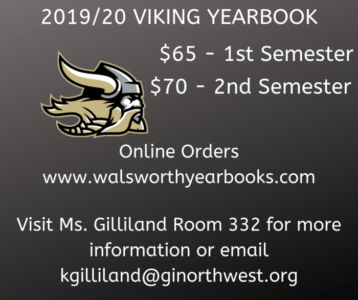 2019-2020 YEARBOOKS FOR SALE