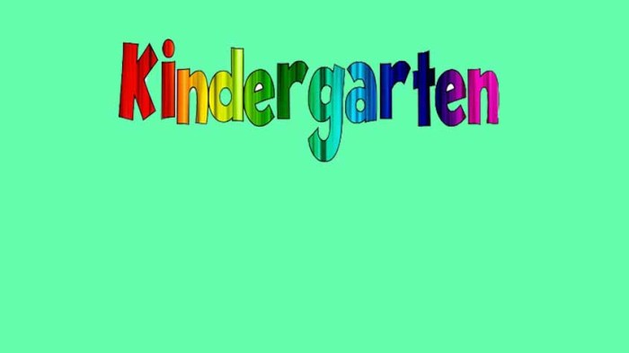 Attention NW Resident Kindergartners