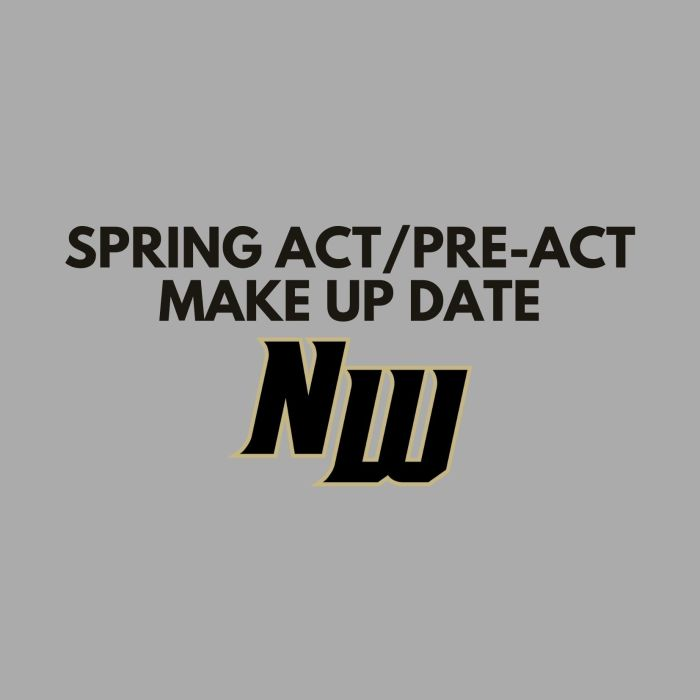 Spring ACT/PreACT Make up Date