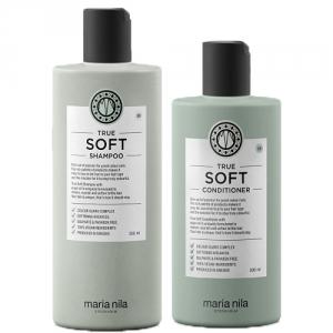 Maria Nila True Soft Shampoo 350ml + Conditioner 300ml Duo i gruppen Hårvård / Schampo / Torrt hår hos ginos.se (truesoftduo)