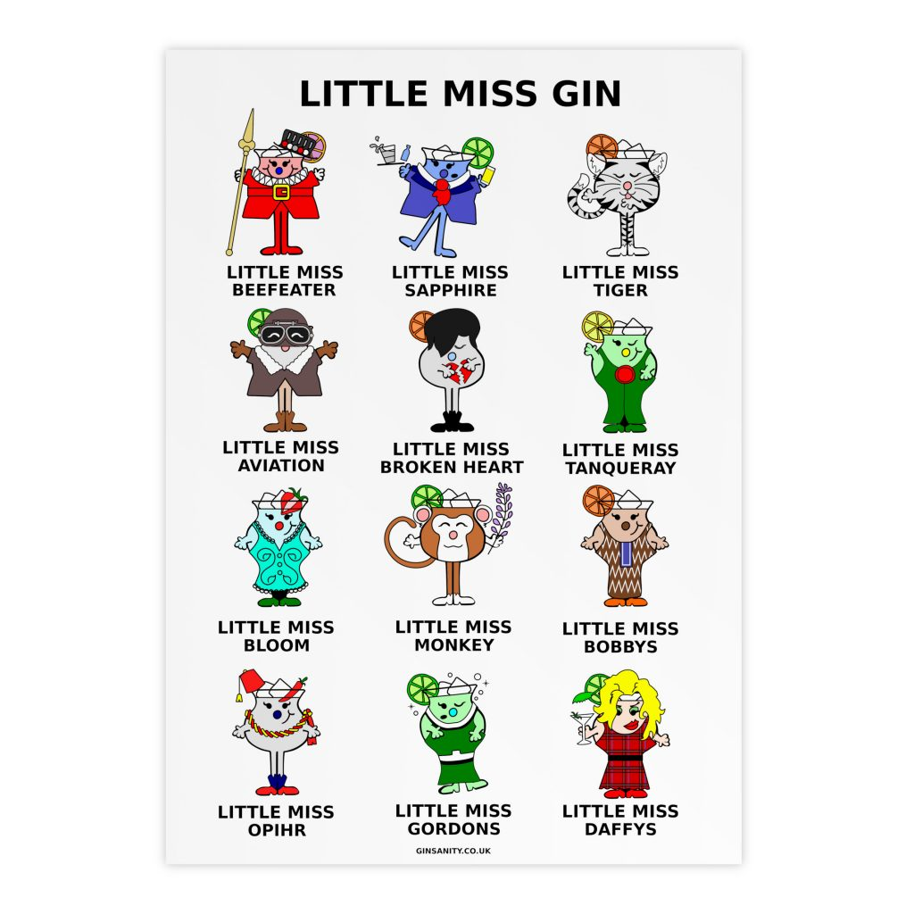 Little Miss Gin A3 poster  Ginsanity