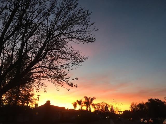 ロス北西部の夕焼け_1_2018