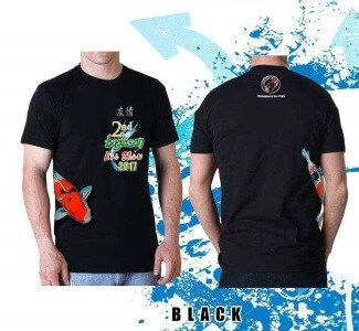 Koi fish show buglasan tshirt black