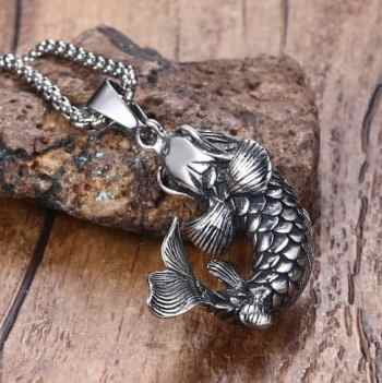 koi fish pendant