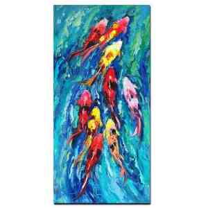 koi fish painting feng shui koi fish oil painting