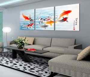 feng shui painting for living room (9 lucky koifish) 1