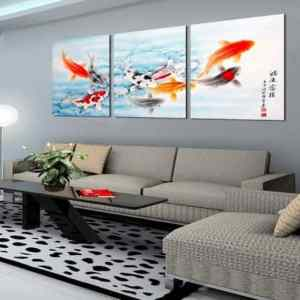 kfeng shui painting for living room oi fish painting feng shui