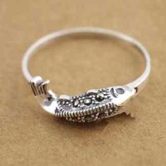koi ring 925 sterling silver