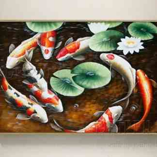 oil paintings for sale oil paintings for sale 9 koi fish feng shui with lotus flower