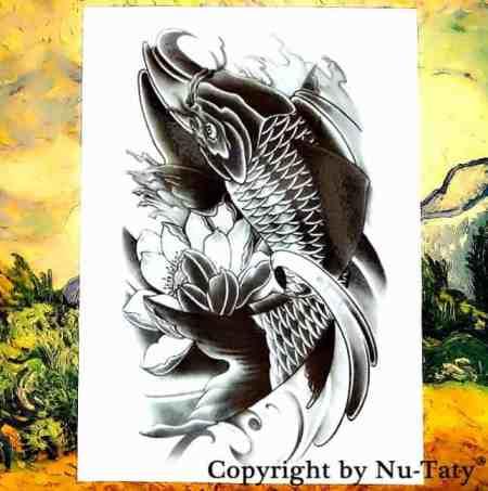 koi fish tattoo sticker