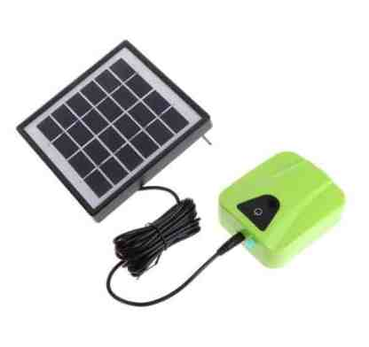 solar powered pond aerator green color